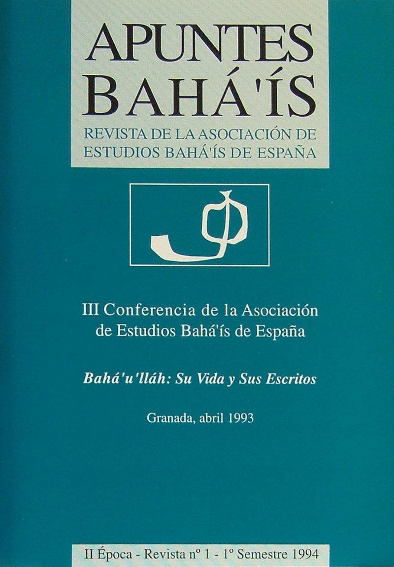 Apuntes bahá'ís - II epoca nº1