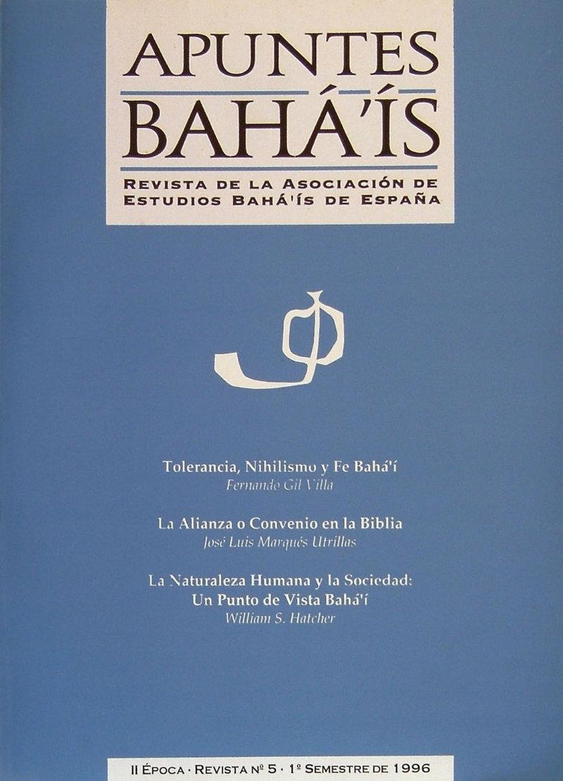 Apuntes bahá'ís - II epoca nº5