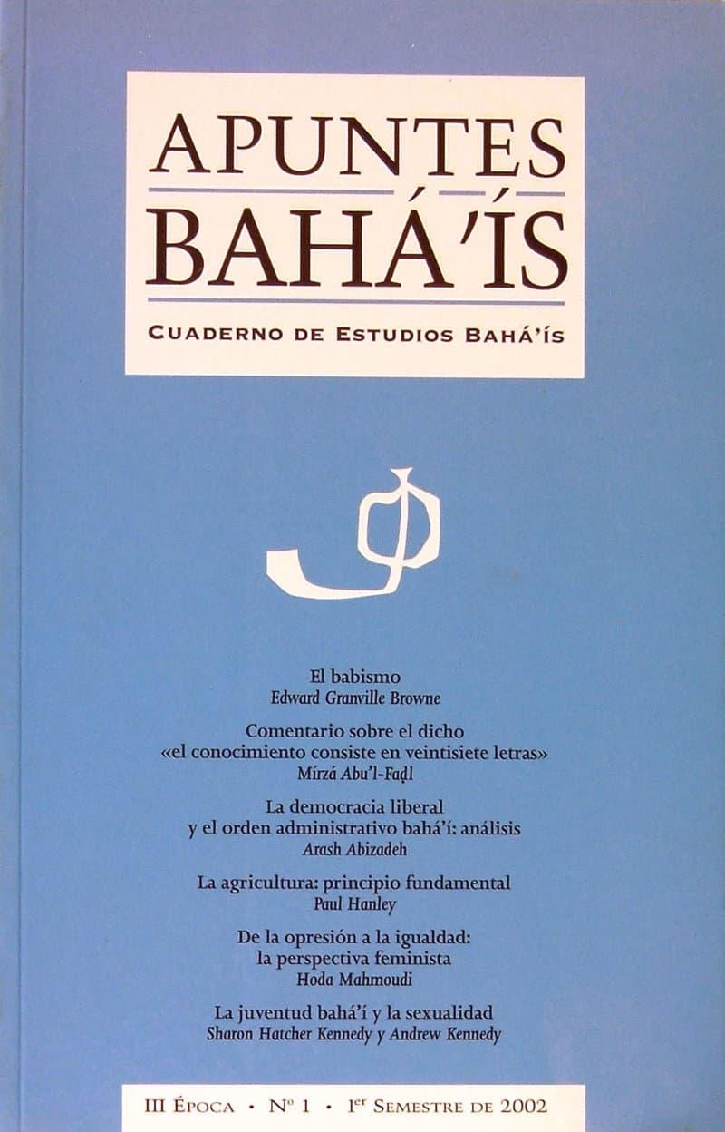Apuntes bahá'ís - III epoca nº1